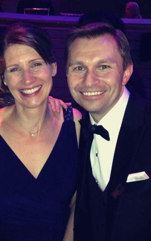 David Sinclair with his wife Sandra Luikenhuis