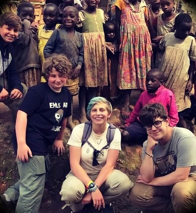 David Sinclair's children on a trip to Africa with other family members