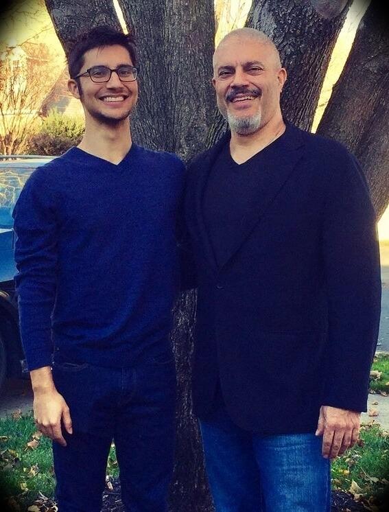 Dr. Rashid Buttar with his son Abie