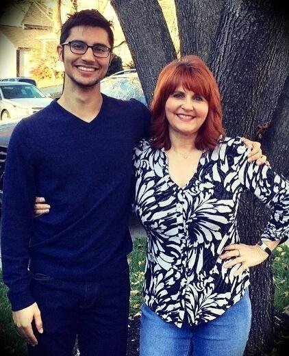 Debbie Buttar with her son Abie Buttar