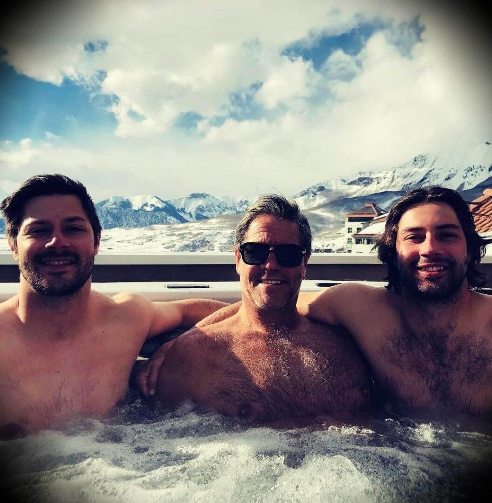 John Assaraf with his sons Keenan and Noah