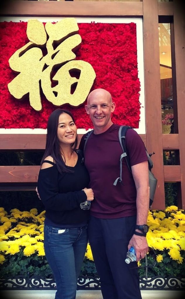 Kevin Ward with his wife Julie Cho-Ward