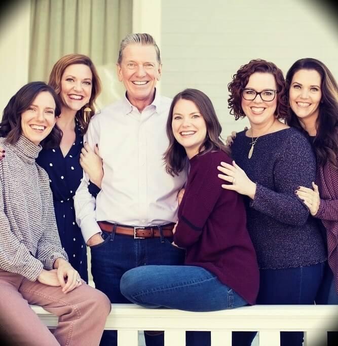 Michael Hyatt with his five daughters