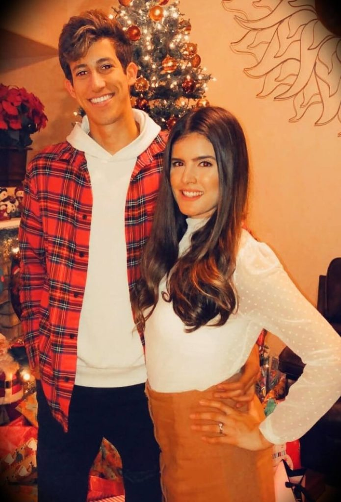Ricky Gutierrez with his  sister