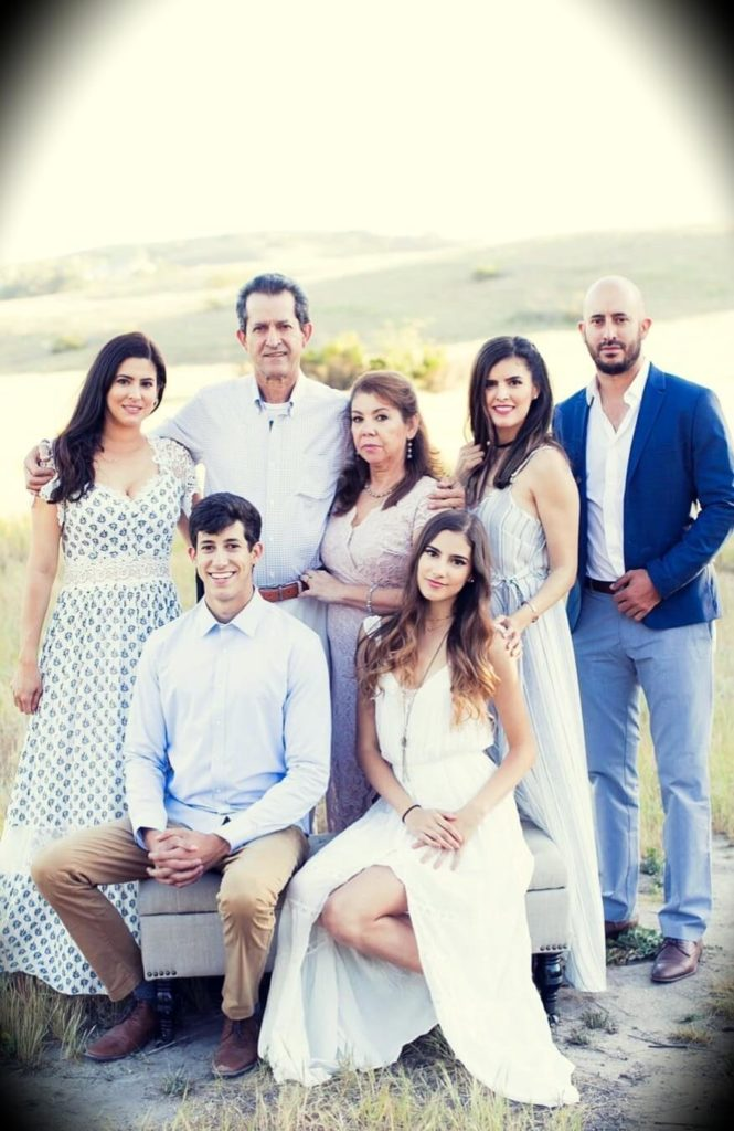 Ricky Gutierrez with his parents and four siblings