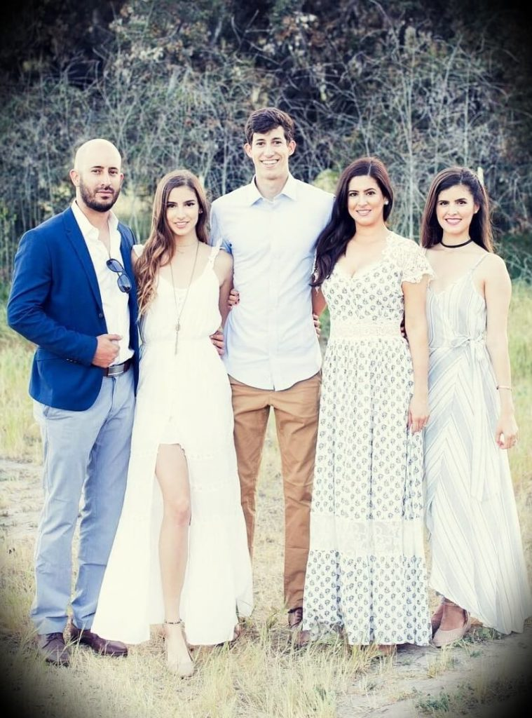 Ricky Gutierrez with his brother and three sisters