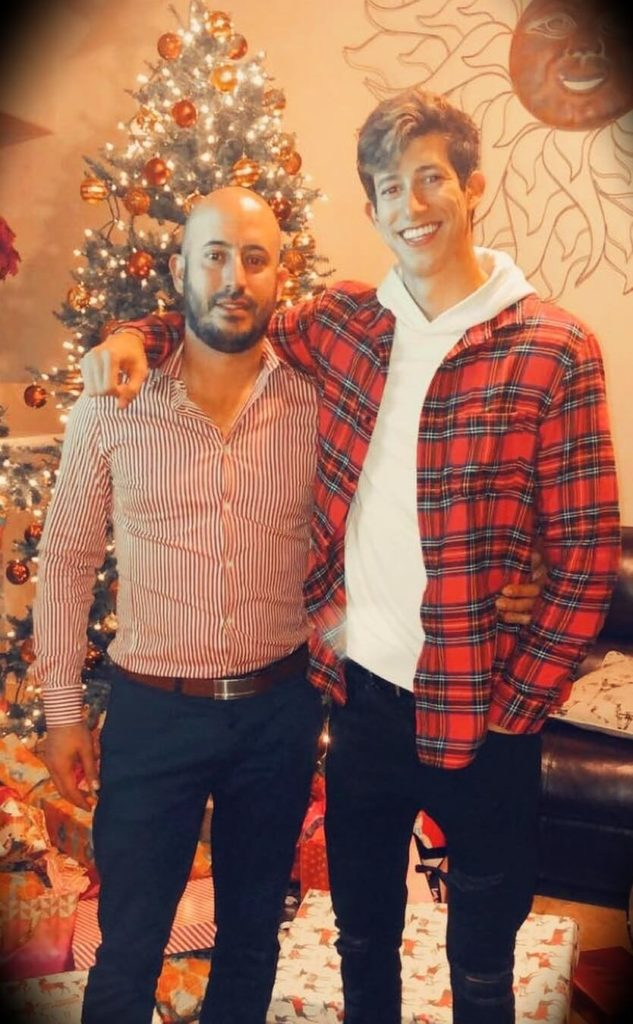 Ricky Gutierrez with his brother