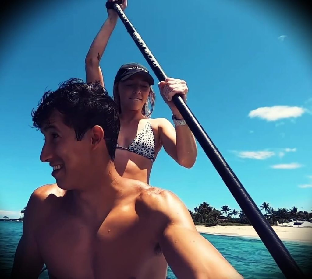 Ricky Gutierrez with his current girlfriend