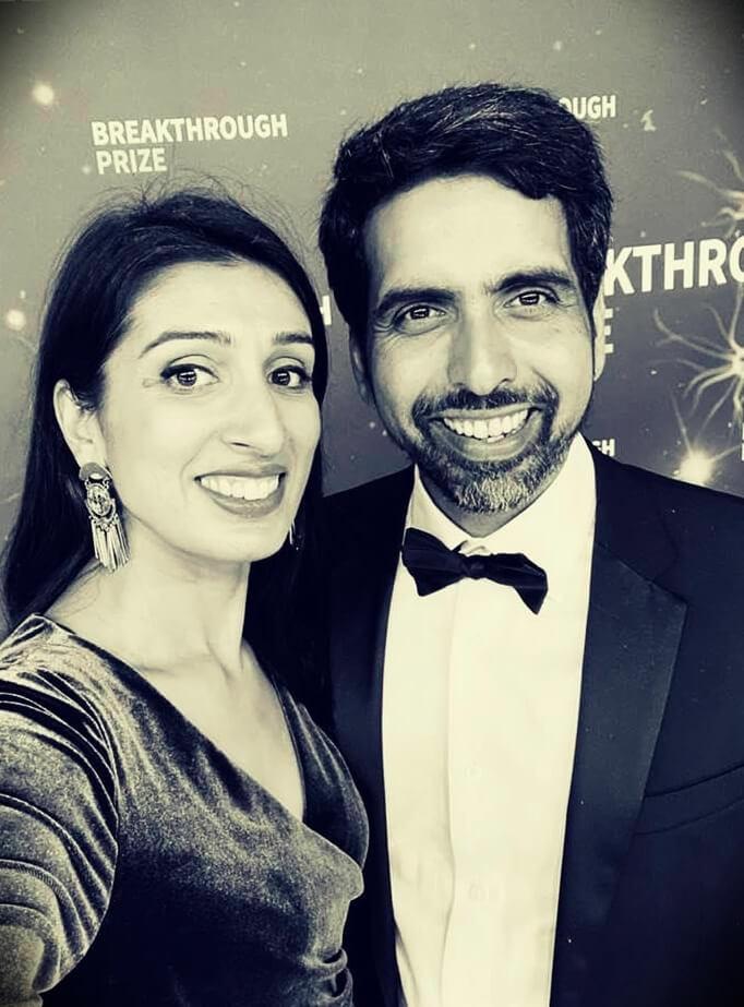 Sal Khan (Khan Academy) With His Wife