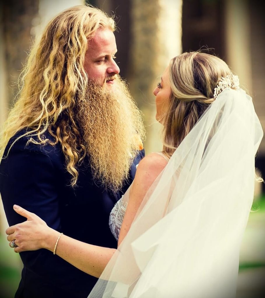 Alan Thrall with his wife Kaitlyn Thrall