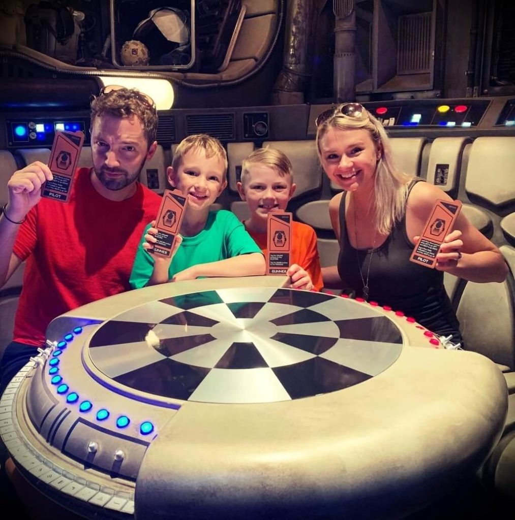 Andy Schrock with his wife Brittany Schrock and their sons
