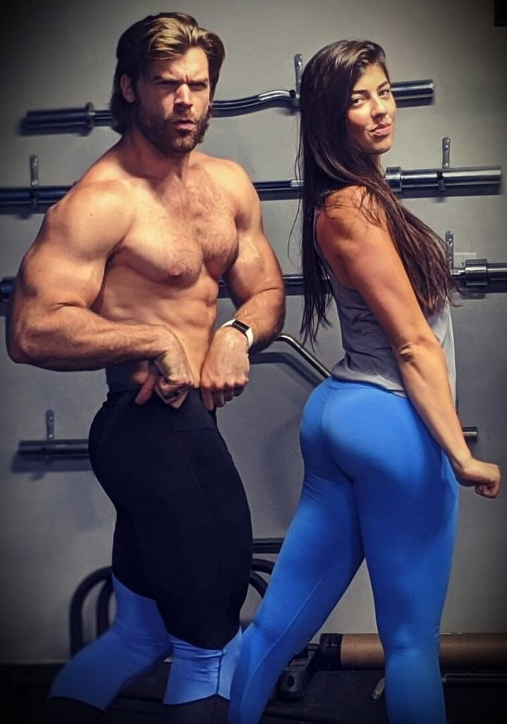 Brandon Myles White with his girlfriend Mikayla Gill