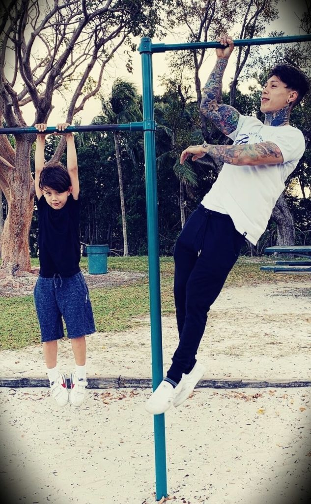 Chris Heria with his son Zen Heria