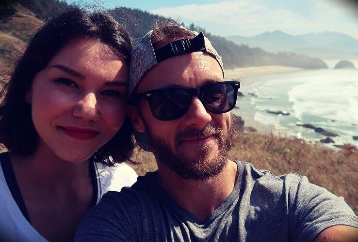 Derek Simnett with his girlfriend Crystal Kennings