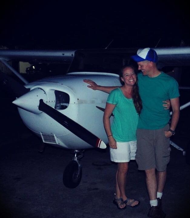 Destin Sandlin with his wife Tara Sandlin