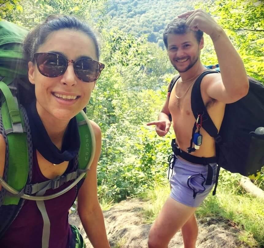 Drew Lynch with his fiancée Melanie Sergiev