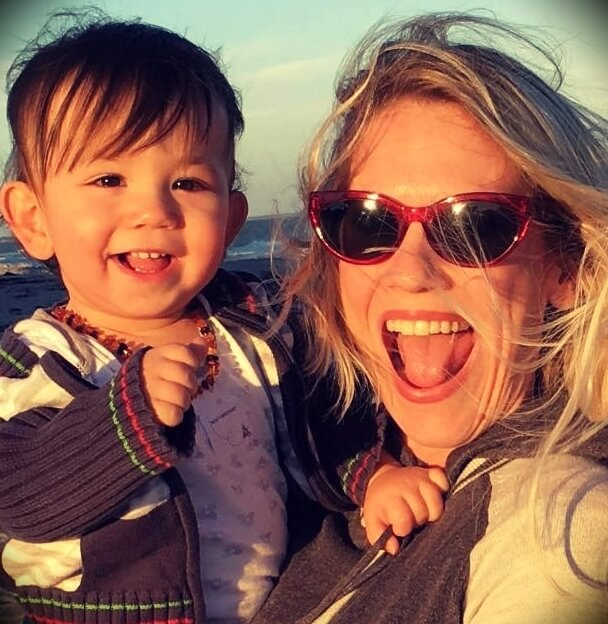 Erich Andreas's wife Melissa Peirce Mahnke and their son