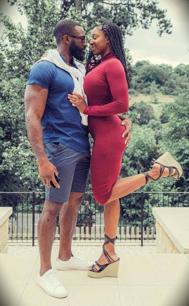 Gabriel Sey with his wife Nyisha Jordan-Sey