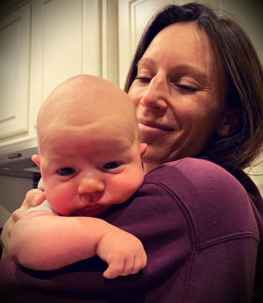 JP Sears' wife Amber Sears with their son