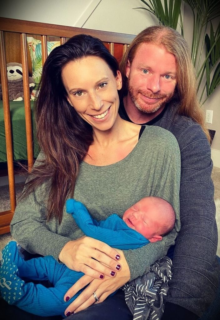 JP Sears with his wife Amber Sears and their son