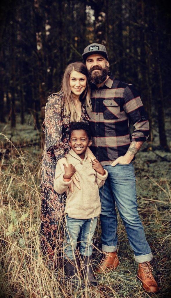Jason Hibbs with his wife Cara Hibbs and their son Iver