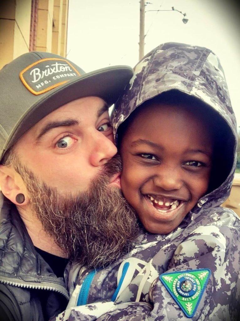 Jason Hibbs with his son Iver