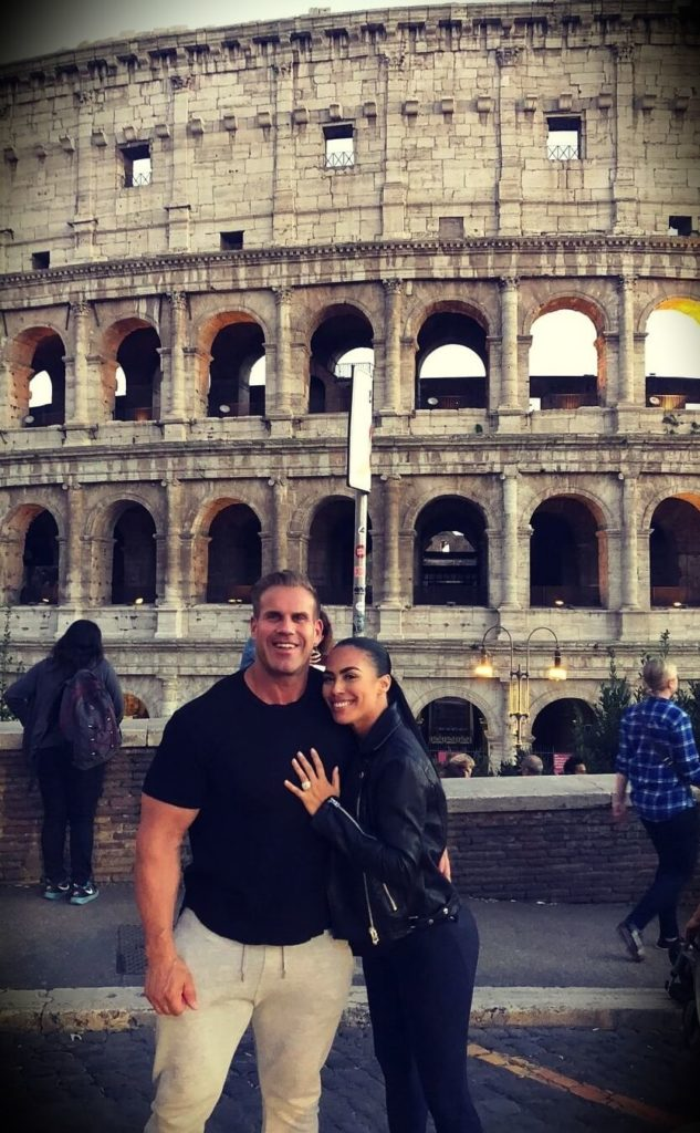 Former Mr. Olympia Jay Cutler with his girlfriend Angie Feliciano