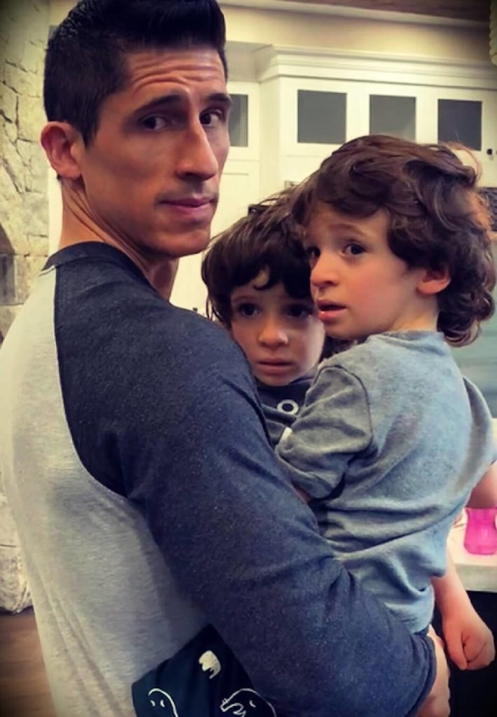 Jeff Cavaliere with his sons