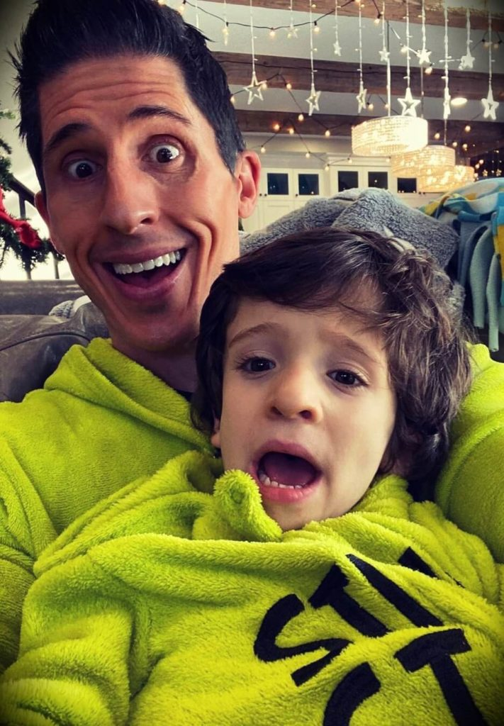 Jeff Cavaliere with his son