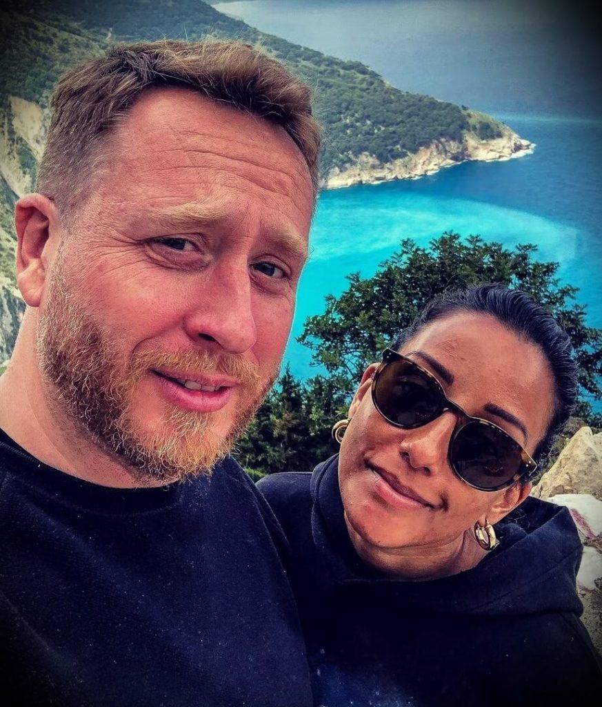 John Quilter with his girlfriend Charlotte Ferguson