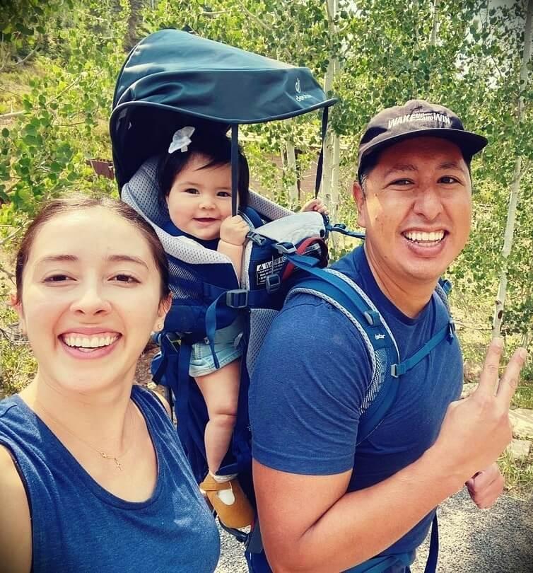 Youtuber Jonathan Santos with his wife Amanda Love Santos and their daughter Alina