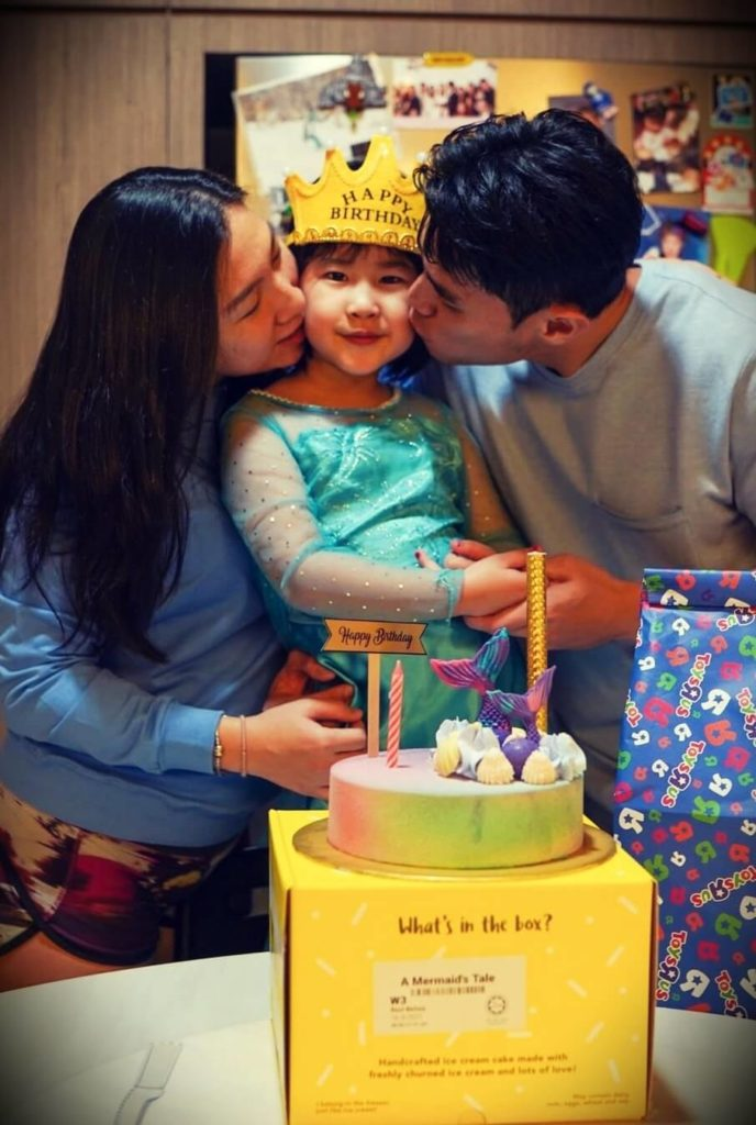 Jordan Yeoh with his wife and their daughter