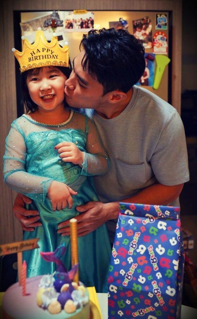 Jordan Yeoh with his daughter