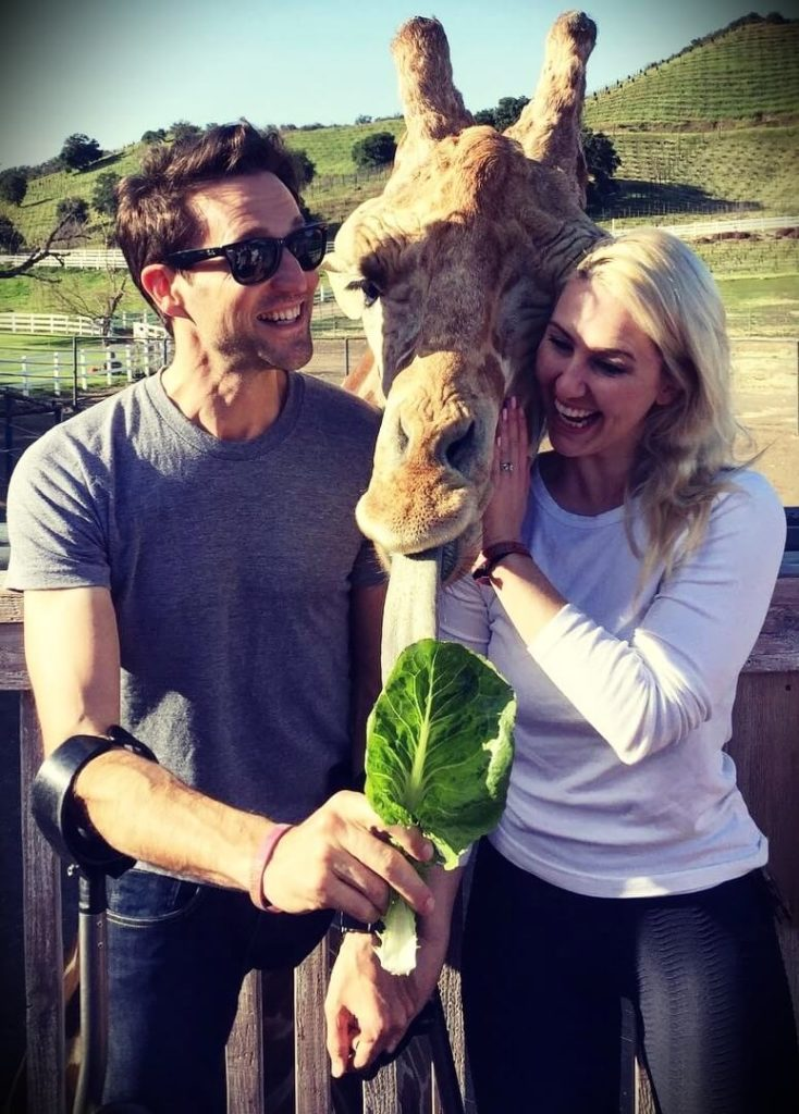 Josh Sundquist with his wife Ashley Elizabeth Nolan