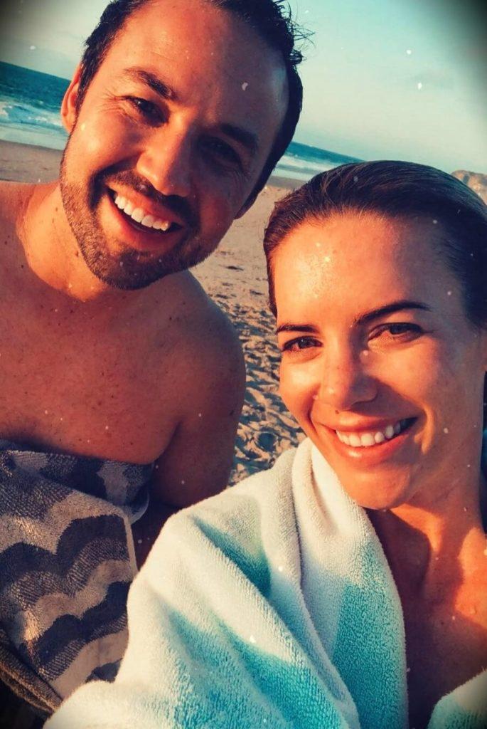 Katie Dunlop with her husband Ryan Dunlop