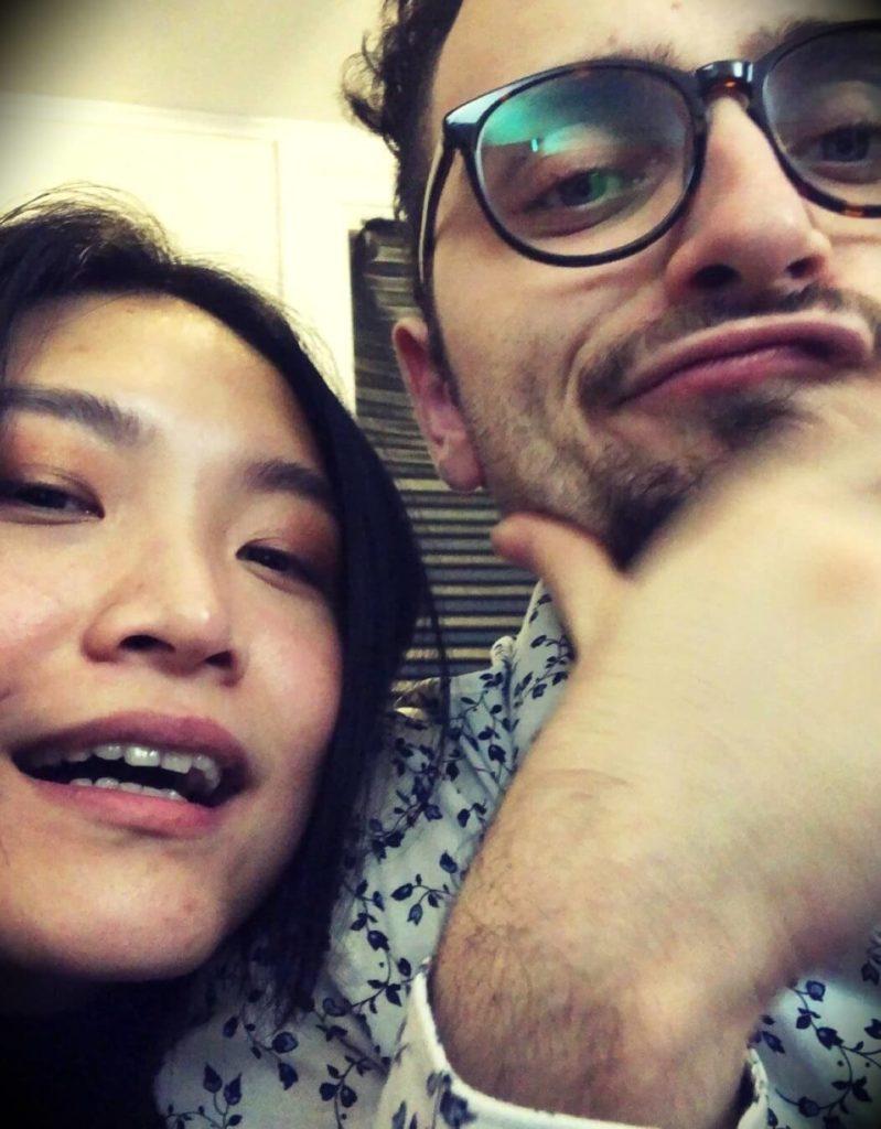 Levy Rozman aka GothamChess with his girlfriend Lucy