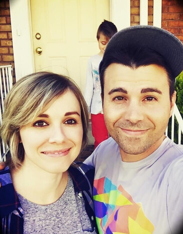 Mark Rober with his wife Lisa Rober