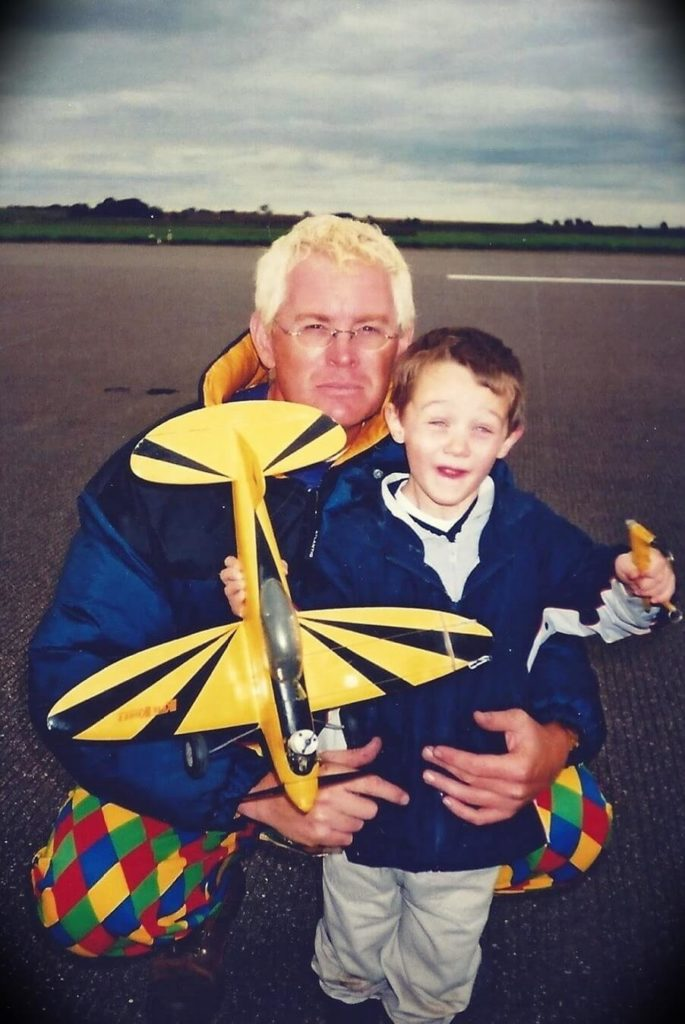 Old photos of Mark Tilbury with his son