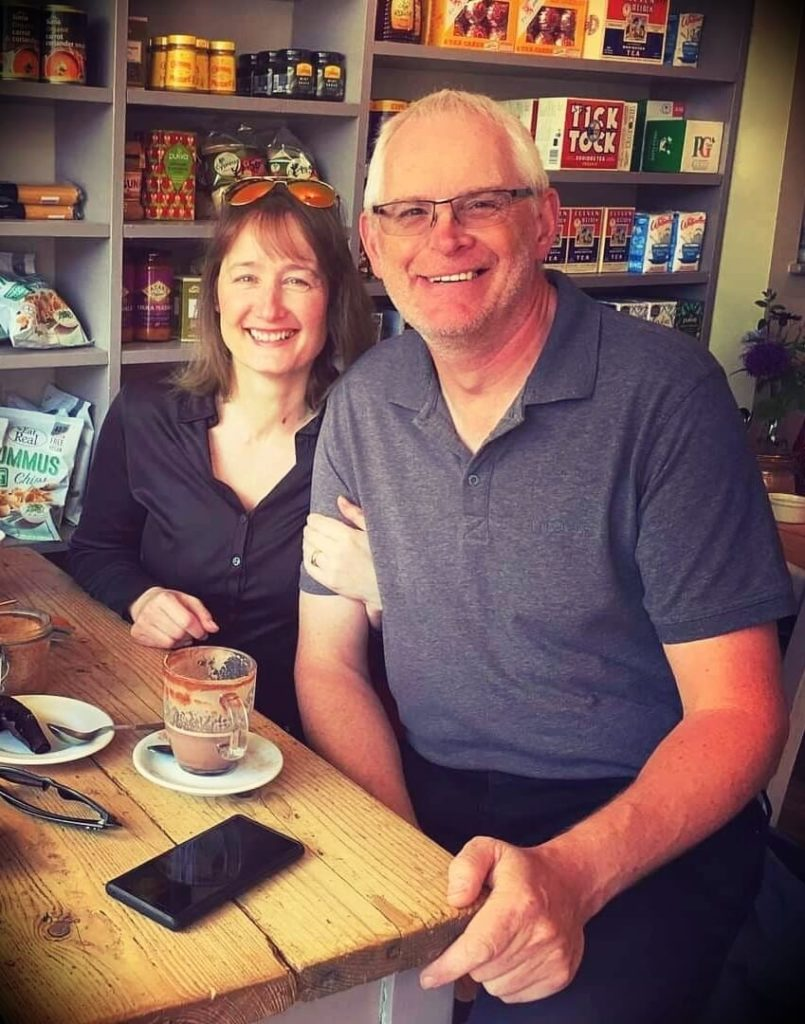 Mark Tilbury with his wife