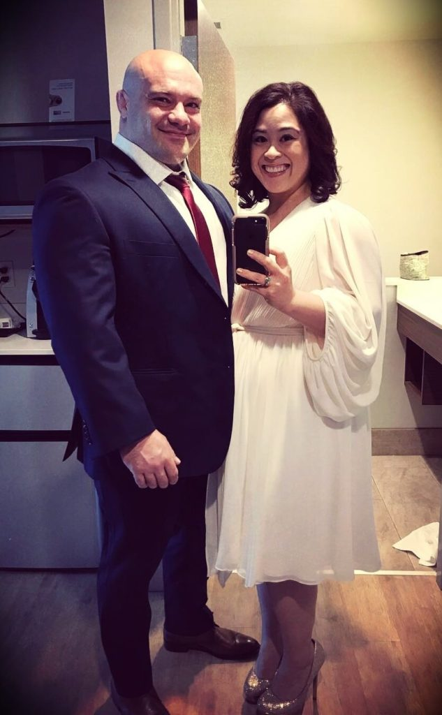 Dr. Mike Israetel with his wife Dr. Christle Guevarra
