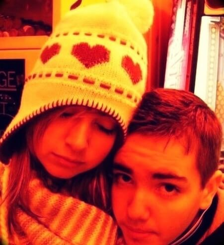 old photo of Randolph with his wife Laura Shane when they were still teenagers