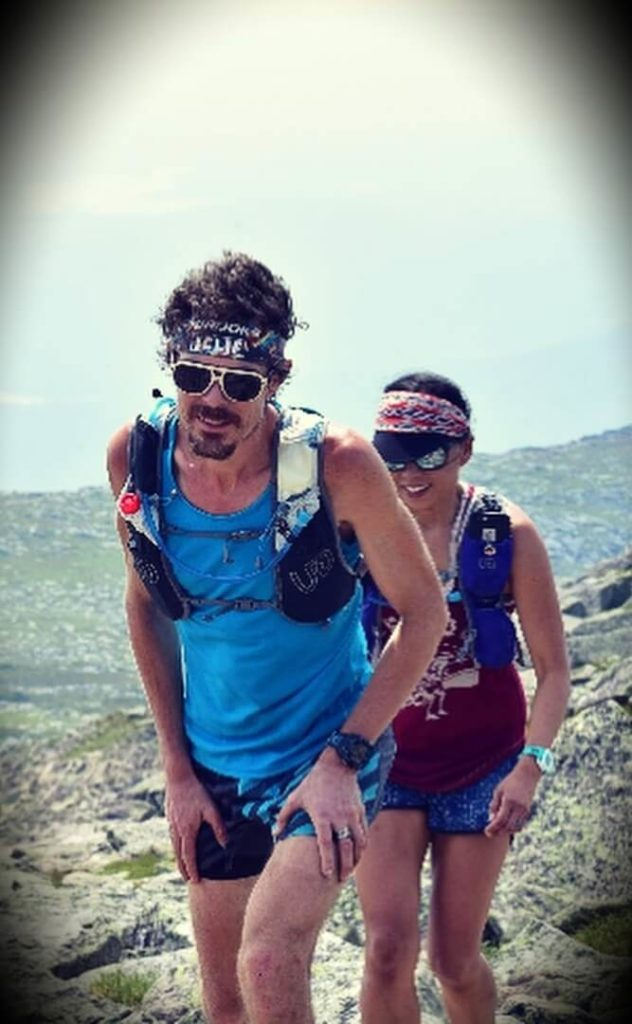 Scott Jurek with his wife Jenny Uehisa