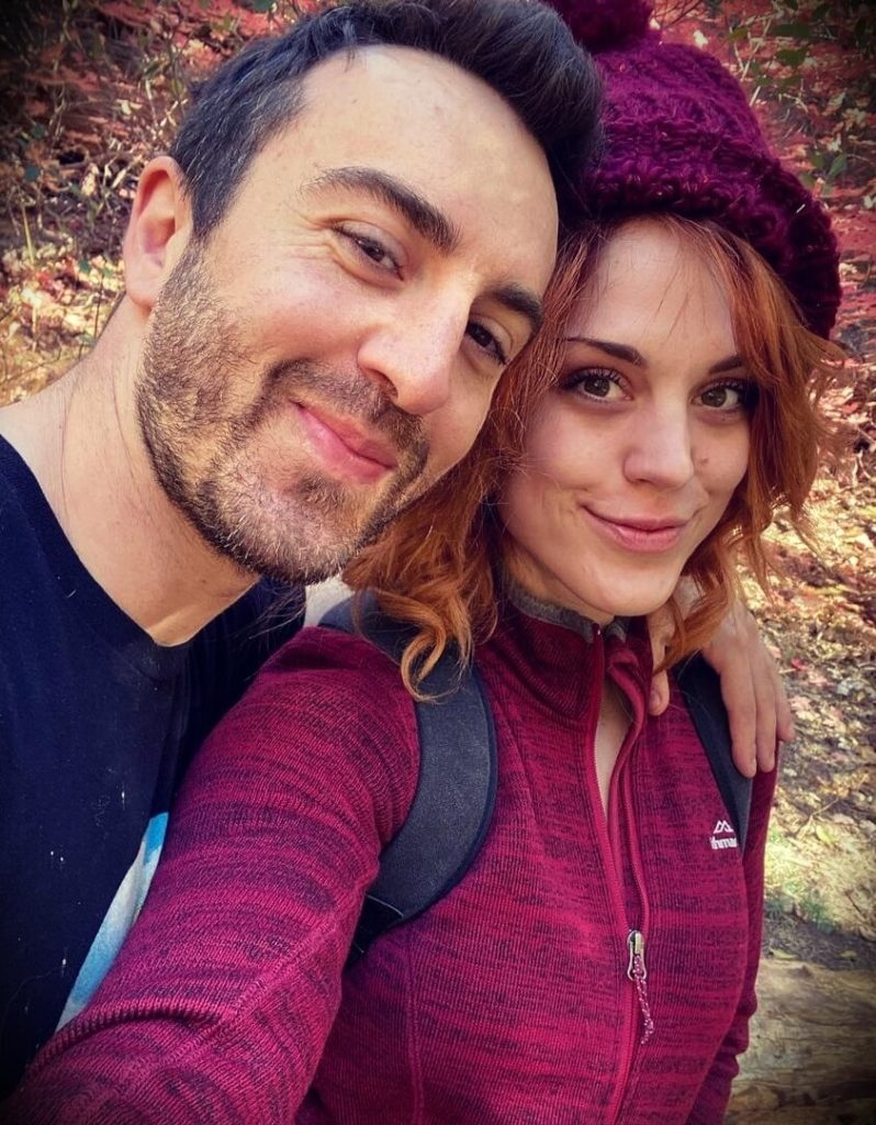 Simonster with his girlfriend Molly Stewart