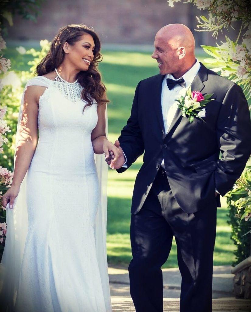 Stan Efferding with his wife Malia Efferding at their wedding
