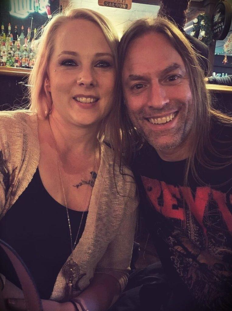 Steve Stine with his wife Jessica Stine