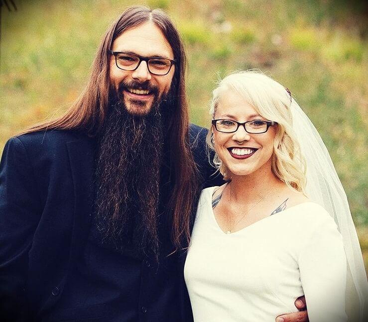 Tony Polecastro with his wife Whitney Polecastro wwedding