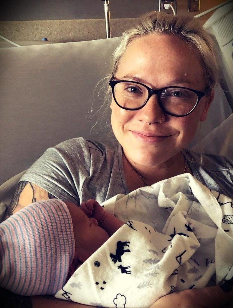 Tony Polecastro's wife Whitney Polecastro with their son Emerson