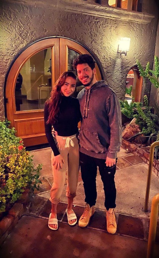 Andre Rebelo aka Typical Gamer with his girlfriend Samara Redway