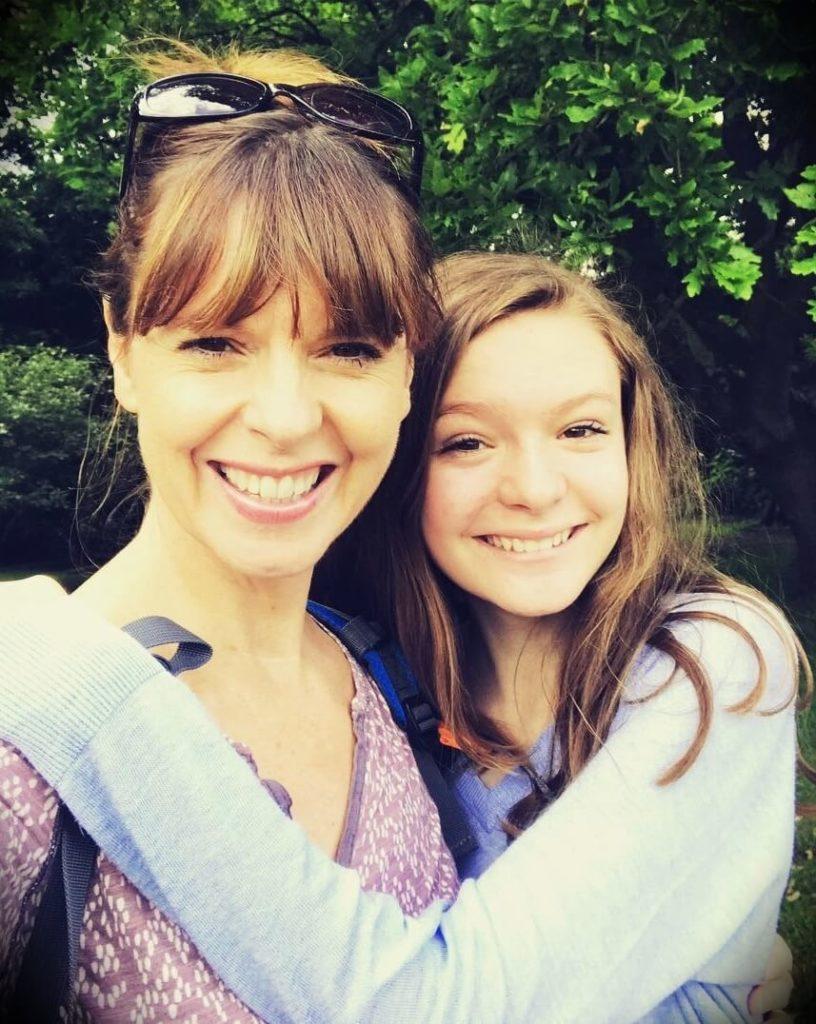 Victoria Stilwell with her daughter Alex