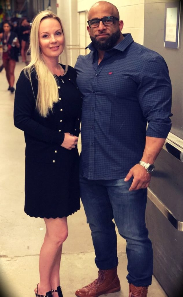 Fouad Abiad with his wife Sommer Robertson-Abiad